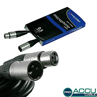 Accu Cable AC-PRO-XMXF/0,5 3 Pin XLR Microphone Cable, 0.5m