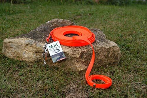 Angel for Pets MJH-Schweißleine BioThane Super Heavy 16mm neon orange 10m; für Hunde bis 50kg