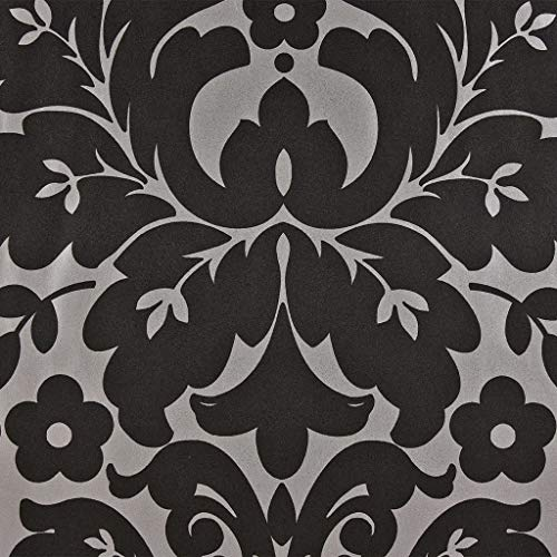 DUTCH WALLCOVERINGS Tapete Vlies Medaillon-Design Schwarz Silbern Fototapete