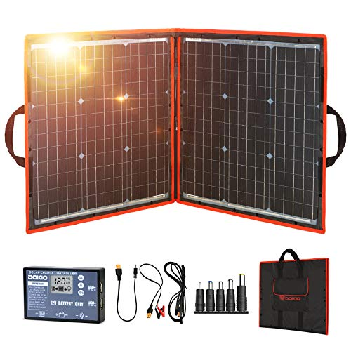 DOKIO 80 watts 12-volt Folding Solar Panel Charger