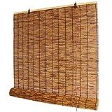 WYCD Tenda a Rullo in bambù retrò, Tapparella Avvolgibile in bambù, Parasole per Parasole per Balcone, per Esterno/Interno, Facile da Installare, 53 Dimensioni