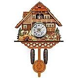 Orologio a cucù della Foresta Nera Tedesca 2021, stile nordico retrò orologio da parete in legno per soggiorno, ufficio, studio, camera da letto, hotel, classe, chiesa