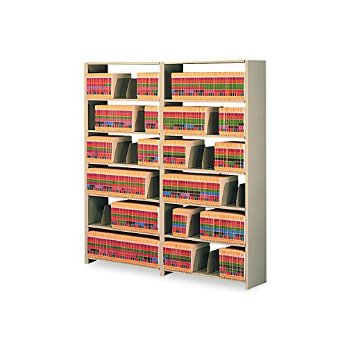 Tennsco 48 by 12 by 88-Inch Snap-Together Open Shelving Steel 7-Shelf Closed Starter Set, Sand