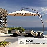 Grand patio Napoli Deluxe 11 FT Umbrella, Champagne