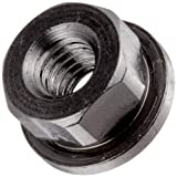 Small Parts - 41603 12L14 Steel Flange Nut Black Oxide Finish, 3/8'-16 Threads, 7/8' Flange OD, 1/8' Flange Thickness, 1/2' Height, Made in US (Pack of 5)