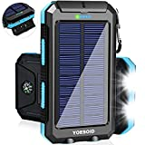 Best Solar Chargers - Solar Charger 20000mAh YOESOID Portable Outdoor Waterproof Solar Review