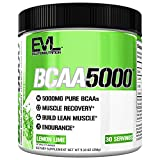 Evlution Nutrition BCAA5000 Powder 5 Grams of Branched Chain Amino Acids (BCAAs) Essential for Performance, Recovery, Endurance, Muscle Building, Keto Friendly, No Sugar (30 Servings, Lemon Lime)