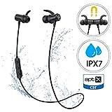 Cuffie Bluetooth Sport, Mpow S11 Auricolari Bluetooth 5.0 Bassi Potenziati, aptX, Auricolari Wireless con IPX7, Auricolari Magnetici con Suono Stereo HD per 9 Ore di Uso, CVC6.0 Riduzione del Rumore
