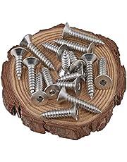 BOZONLI Houtschroeven houtschroef zelfsnijdende schroeven binnenzeskant platte kopschroeven M4×30mm,50 pcs