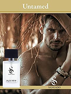 SANGADO Sin Domar Perfume para Hombres Larga Duración de 8-10 horas Olor Lujoso Aromática Fougère Francesas Finas Ext...