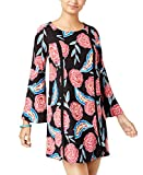 Roxy Women's East Coast Dreamer Long Sleeve Dress 2, Anthracite Mexican Roses, XL