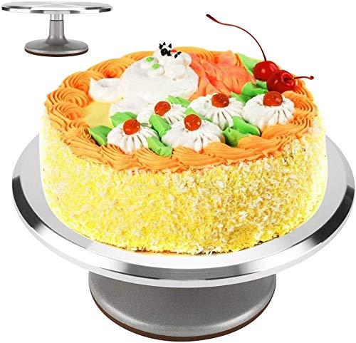 Ejoyous 12 Zoll Tortenplatte drehbar Tortenständer Kuchen Drehteller Cake Decorating Turntable für Backen Gebäck, Zuckerguss