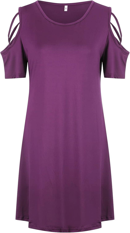 JUNLIN outlet Women's Short Sleeve Knee Translated Length Polka Shirt Dot Su Dress