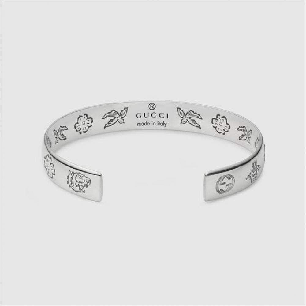 Bracciale per donna, gucci blind for love, rigido,in argento sterling 925 YBA455242001016