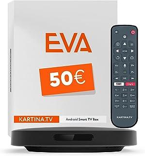 Kartina Eva IPTV Receiver Russische televisie! Ondersteunt 4K, WiFi 2.4G/5G/USB, Micro SD, Android TV. Officiële Shop van ...