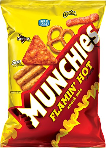 Munchies Snack Mix, Flamin' Hot, 8 Ounce