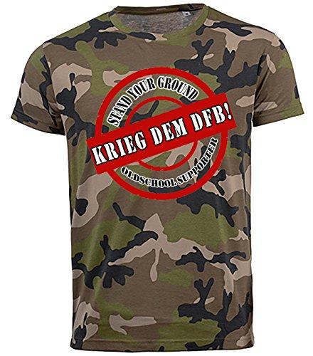 Volkspark Hamburg Streetwear Herren T-Shirt Krieg dem DFB (l)
