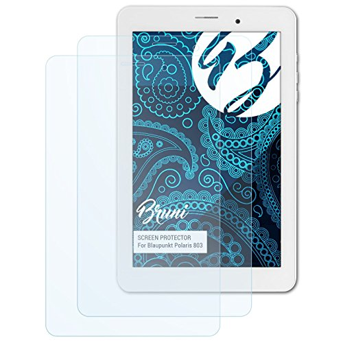 Bruni Schutzfolie kompatibel mit Blaupunkt Polaris 803 Folie, glasklare Bildschirmschutzfolie (2X)