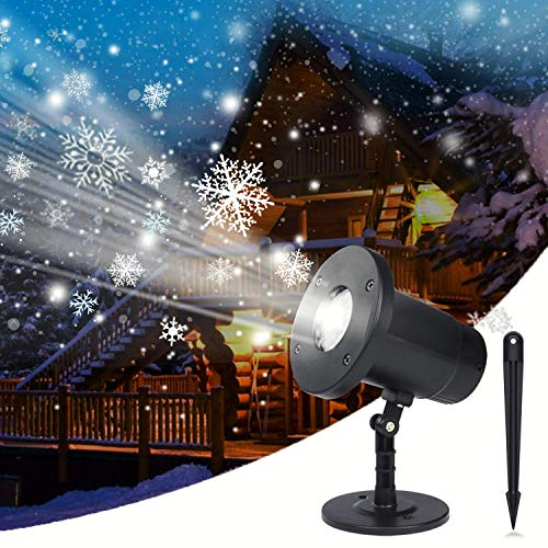 Holiday Projector, Dr. Prepare Christmas Projector Lights Outdoor, Dynamic Snowflake Projector IP65 Waterproof, Indoor Outdoor Decorative Lighting for Christmas Holiday Halloween Xmas Birthday Party