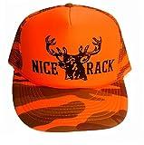 Nice Rack Orange Camouflage Camo Mesh Trucker Hat Cap Deer Blaze Buck