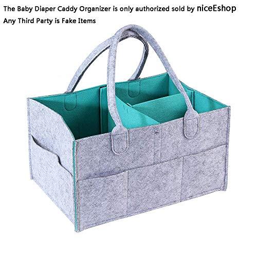 Bolsa de Almacenamiento de Bebé,niceEshop(TM) Organizador de Capa de Fieltro, Ropa / Toallas / Bolsa de Pañales / Juguetes para Viajar, Acampar (gris y Azul)