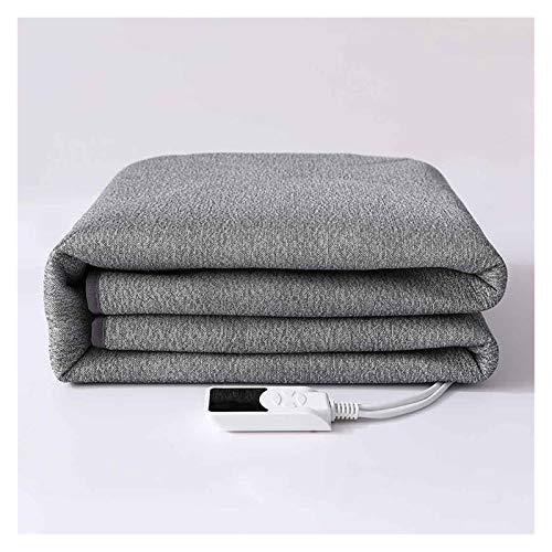Electric Blanket Dual Temperature Control Heating Mattress Safe Low Voltage Remove Mites Dehumidification Blanket Gray (Color : Single 90cmx195cm)