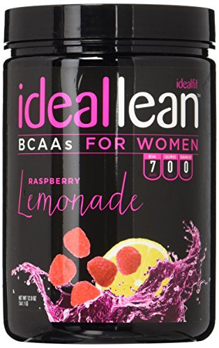 IdealLean BCAA For Women - Amino Acids for Women | Maximize Fat Burn & Lean Muscle Growth | Aids Weight Loss | Post Workout Recovery Drink | 10 Cals, 3 Carbs, 0 Sugar | Raspberry Lemonade | 11.64 oz