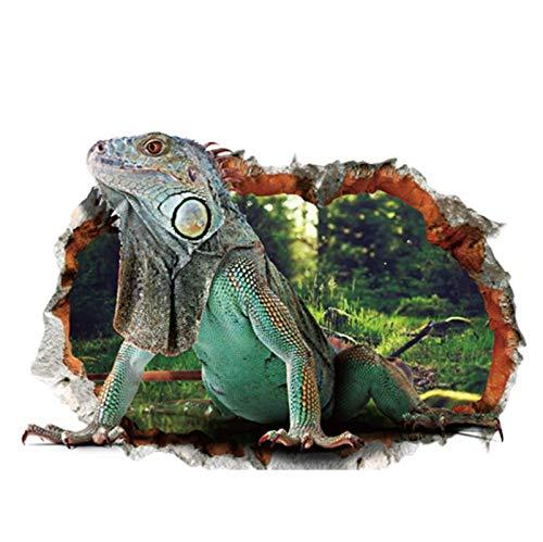 Lizard 3D Stereoscopic wasserdichte Wandaufkleber Abnehmbare PVC Kinderzimmer Wohnzimmer Wandaufkleber 50 * 70Cm