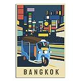 ASFGH Bangkok Thailand Vintage Reise Poster Dekor Malerei