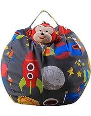 YLWZZ Puf de peluche para guardar peluches, para niños, de tela, circunferencia de 150 cm