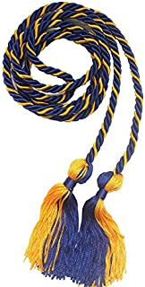 Annhiengrad Two-Color Graduation Honor Cords (Royal Blue and Gold)