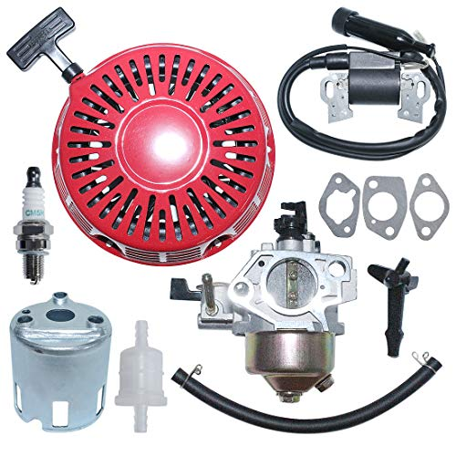 Review Of AUMEL Carburetor Recoil Pull Starter Ignition Coil Kit for Hond GX390 13HP Lawn Mower Engi...