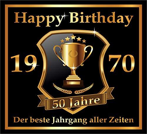 RAHMENLOS 3 St. Aufkleber zum 50. Geburtstag: 1970 der Beste Jahrgang Aller Zeiten - Selbstklebendes Flaschen-Etikett. Original Design