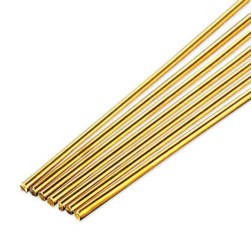 jidan Bequemer haltbarer Elektrodenschweißdraht 5pcs 10pcs 20pcs Messingschweißdrähte Drähte Sticks 500mm Länge Drahtelektrode Löten Rod for das Löten Löten Reparatur-Werkzeuge