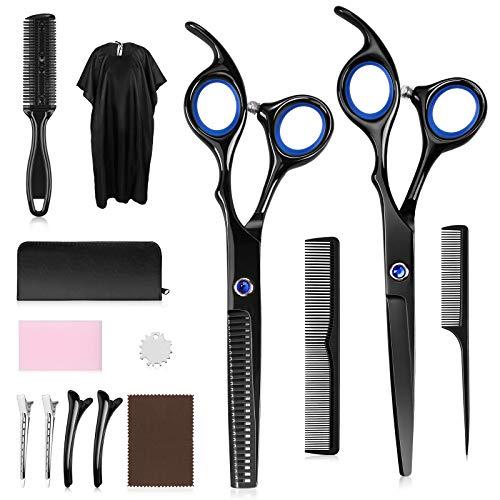 Lictin Haarschere Set - Haarschneideschere 13PCS Premium Scharfe Friseurscheren, Effilierschere - Profi Friseur Schere Haarschnitt Frisörschere Perfekter Haarschnitt für Damen und Herren