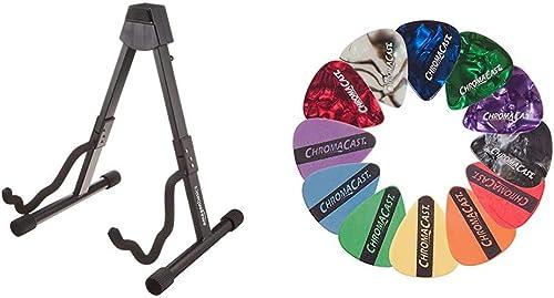 Amazon Basics Guitar Folding A-Frame Stand for Acoustic and Electric Guitars & ChromaCast CC-SAMPLE Sampler Guitar Pi...