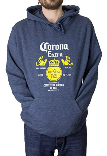 Calhoun Corona-Flaschen-Aufkleber Navy Hoodie Medium