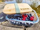 Personalisierte Brotdose Glas   Gravur   1 Liter   Bambus Deckel   Individuell   Motiv   Name   Lunchbox