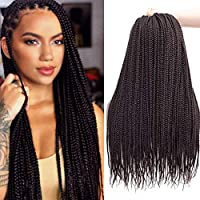 1.Material: synthetic fiber hair extensions, 100% kanekalon crochet braids, ombre box braids crochet 2.Details:20 Roots/Piece,3 and 7 Pieces/Pack to choose. Usually 6-9 Pieces Can Full A Head 3.Tangle Free,Easy Brushing,Easy Crochet Braids .Guarantee...
