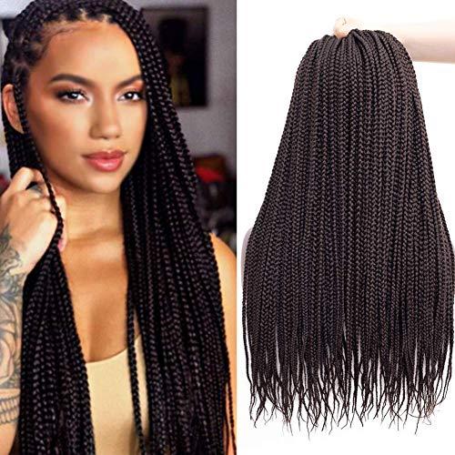 "Ronsaen Box Braids Crochet Hair 100% Kanekalon Crochet Box Braids Hair(7Packs/Lot) (14""7Packs, 2)"