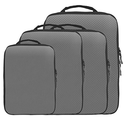 Magictodoor Doppelseitige Kompressionspackwürfel, grau (Grau) - Dould Cubes Grey