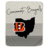 Pegasus Sports NFL Ultra Fleece State Stripe Blanket- Cincinnati Bengals, 60x70