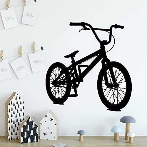 Divertido rollo de papel tapiz de vinilo para bicicleta, decoración de muebles, habitación de niños, decoración del hogar, calcomanía, Mural, pegatina de pared plana A2 57x59cm