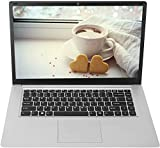 YELLYOUTH 15.6 inch Laptop Computer Intel 8GB RAM 128GB SSD CPU Quad Core Laptop Notebook with WiFi HDMI Windows 10 Silver