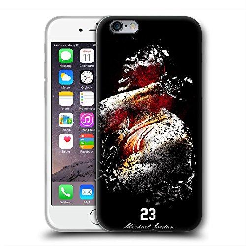 SDKMOVREQ Funda iPhone 5 5S SE Case Michael J NO.23 Estuche Transparente TPU Transparente Protector Transparente Cubierta de teléfono Celular
