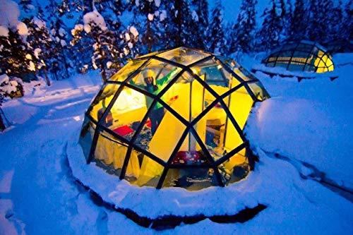 none_branded digitale olieverfschilderij om te knutselen, Finland Aurora tent, sneeuw, wanddecoratie, cadeau, decoratie, hobby, handbeschilderd, modern, 40 x 50 cm