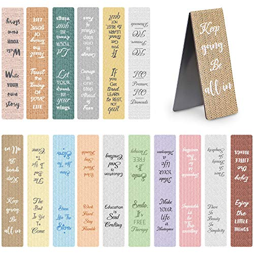 48 Pieces Inspirational Magnetic Bookmarks 16 Designs Motivational Magnetic Page Markers Magnet Book...