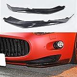 JTAccord Tiras de decoración del Kit de carrocería de embellecedores de Fibra de Carbono Real para Maserati GranTurismo 2008-2018, Accesorios de Estilo de Coche, 2 Piezas