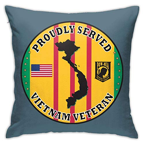 v-kook-v Vietnam Veteran Proudly Served Sticker Sofa Bedroom Pillowcase 45cm45cm