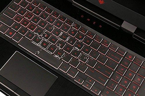 """Premium Ultra Thin TPU Keyboard Cover Compatible HP OMEN 15-DC 15.6"""" Series, HP 15-dc0010nr 15-dc0020nr 15-dc0030nr dc0045nr 15-dc0051nr dc0052nr dc0086nr dc0087nr dc0096nr 17-cb005 Gaming Laptop"""